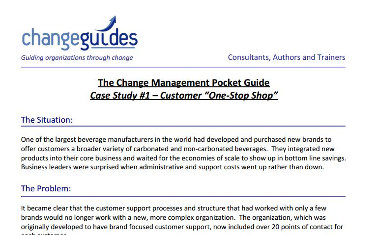 change management case studies pepsi Managers can learn a lot from these classic change management case studies  the 5 greatest examples of change management in business history 20 july 2015 -.